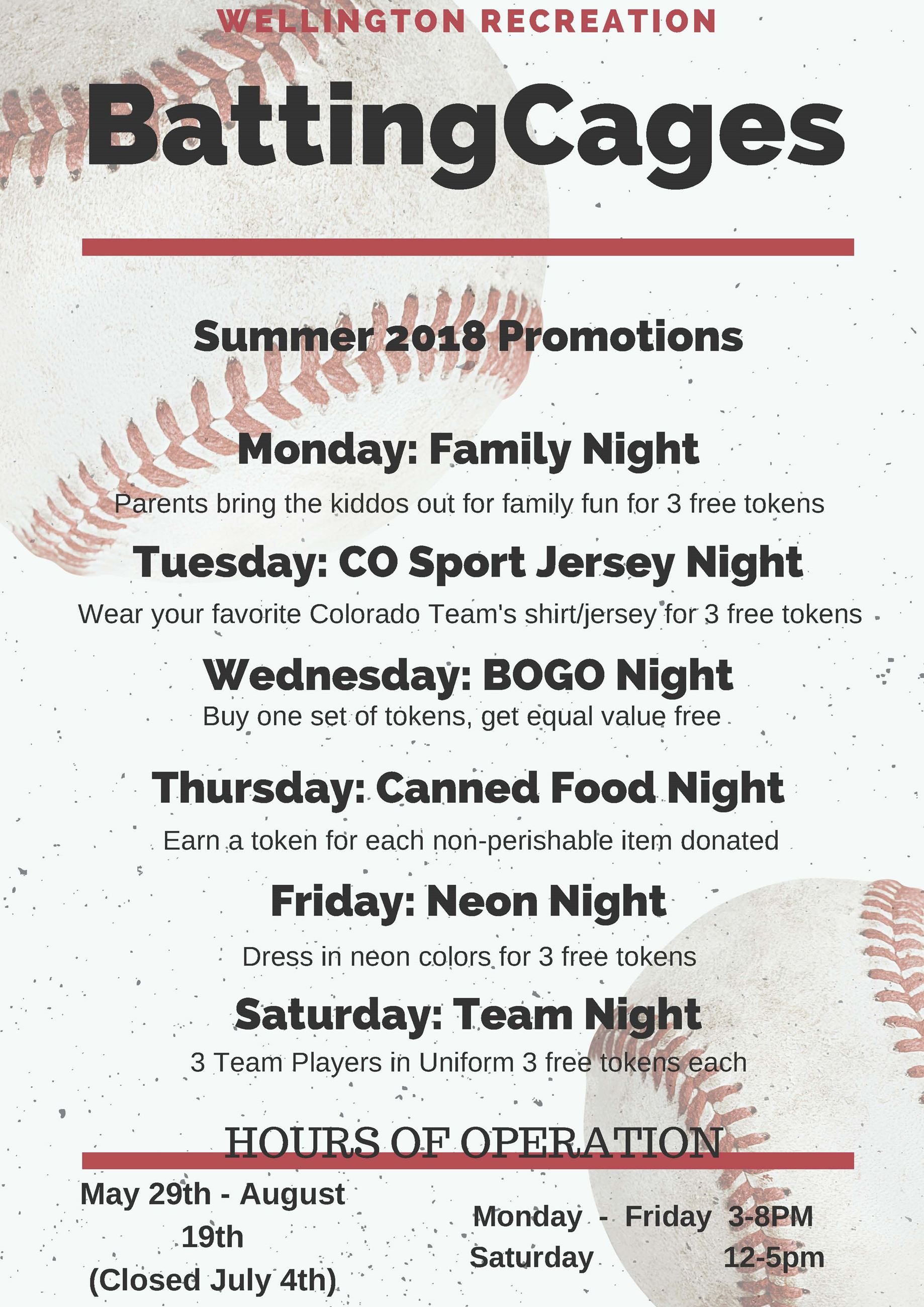BATTING CAGE PROMO SUMMER 2018